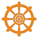 Dharmachakra. The eight spokes represent the Noble Eightfold Path of Buddhism