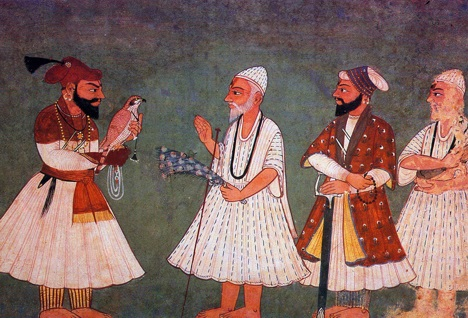 Guru Gobind Singh meets Guru Nanak Dev (imaginary meeting)